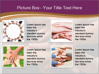 Many hands PowerPoint Template - Slide 14