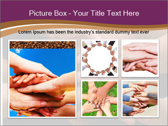 Many hands PowerPoint Template - Slide 19
