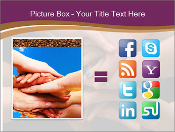 Many hands PowerPoint Template - Slide 21