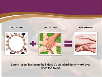 Many hands PowerPoint Template - Slide 22