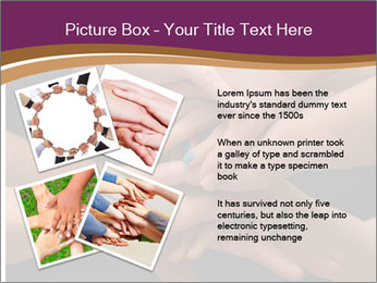 Many hands PowerPoint Template - Slide 23