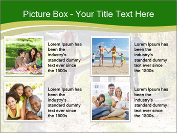 Young family walking PowerPoint Template - Slide 14