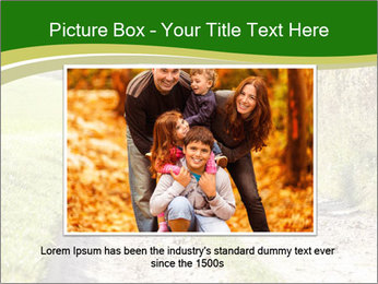 Young family walking PowerPoint Template - Slide 15