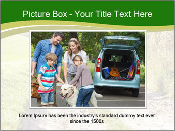 Young family walking PowerPoint Template - Slide 16