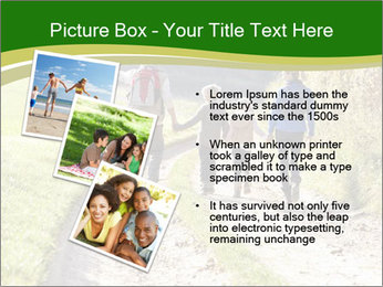 Young family walking PowerPoint Template - Slide 17