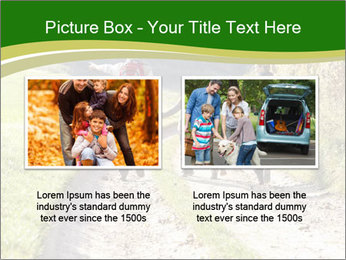Young family walking PowerPoint Template - Slide 18