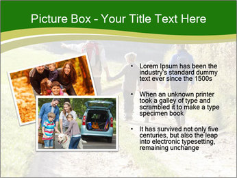 Young family walking PowerPoint Template - Slide 20