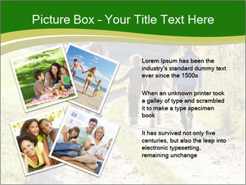 Young family walking PowerPoint Template - Slide 23