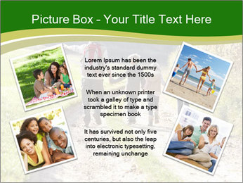 Young family walking PowerPoint Template - Slide 24