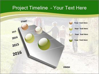 Young family walking PowerPoint Template - Slide 26