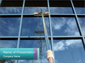 Window Washing PowerPoint Templates - Slide 1