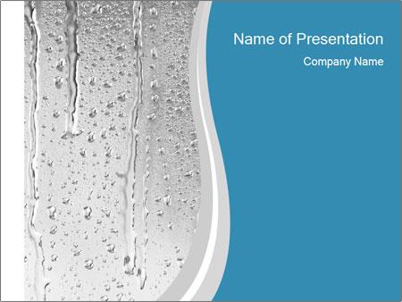 Rain drops PowerPoint Templates