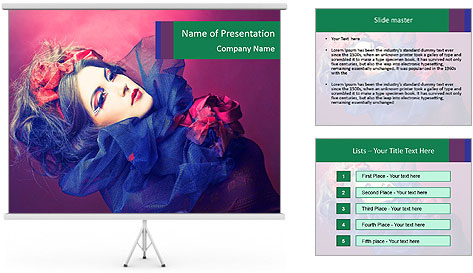 Queen of hearts PowerPoint Template