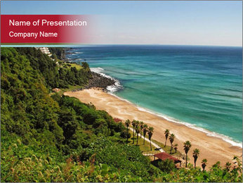 Tropical beach PowerPoint Template - Slide 1