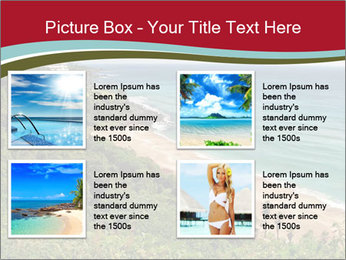 Tropical beach PowerPoint Template - Slide 14