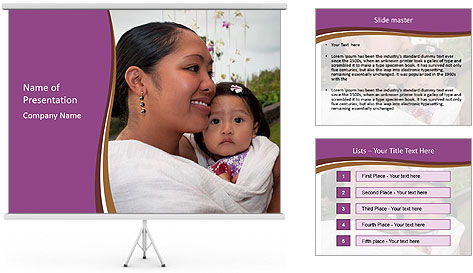 A young mother PowerPoint Template