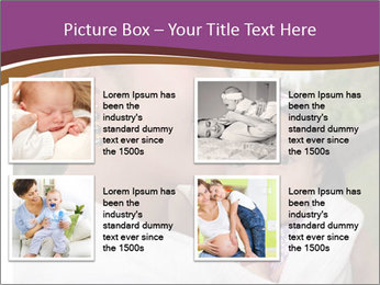 A young mother PowerPoint Template - Slide 14