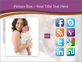 A young mother PowerPoint Template - Slide 21