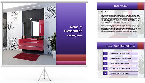 Modern furniture PowerPoint Template