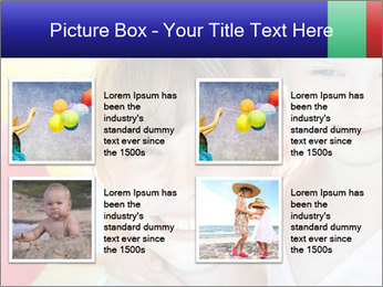 Little girl playing with swimming pool PowerPoint Templates - Slide 14