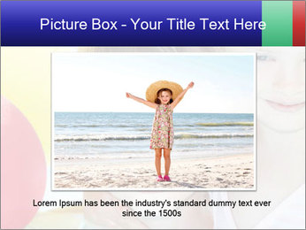Little girl playing with swimming pool PowerPoint Templates - Slide 15