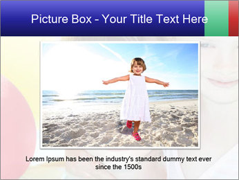 Little girl playing with swimming pool PowerPoint Templates - Slide 16