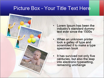 Little girl playing with swimming pool PowerPoint Templates - Slide 17