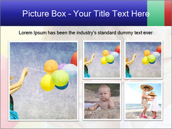 Little girl playing with swimming pool PowerPoint Templates - Slide 19