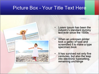 Little girl playing with swimming pool PowerPoint Templates - Slide 20