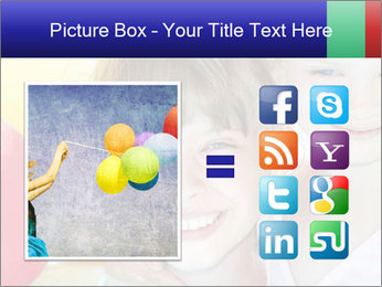 Little girl playing with swimming pool PowerPoint Templates - Slide 21