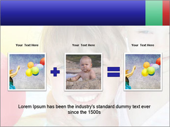Little girl playing with swimming pool PowerPoint Templates - Slide 22