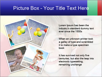 Little girl playing with swimming pool PowerPoint Templates - Slide 23