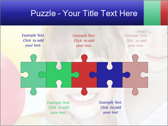 Little girl playing with swimming pool PowerPoint Templates - Slide 41