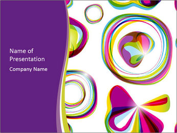 Abstract futuristic PowerPoint Template - Slide 1