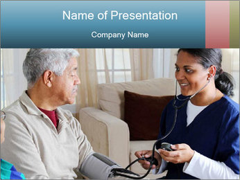 Home health care worker PowerPoint Template