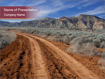 A rough dirt road leads PowerPoint Template