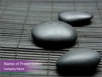 Relaxation Stones PowerPoint Template