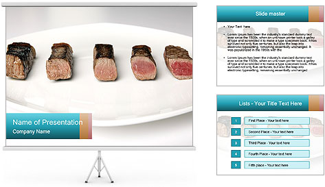 Steak rare to well done PowerPoint Template