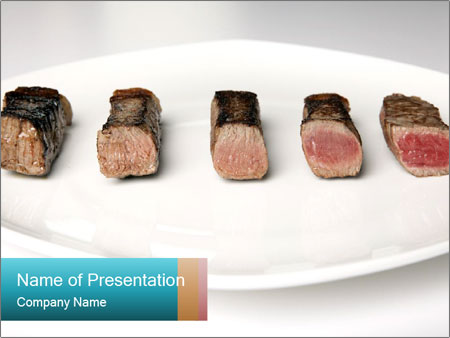 Steak rare to well done PowerPoint Templates