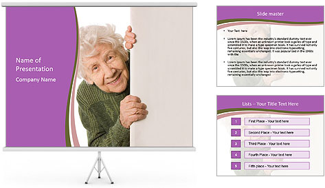 The old woman spies PowerPoint Template