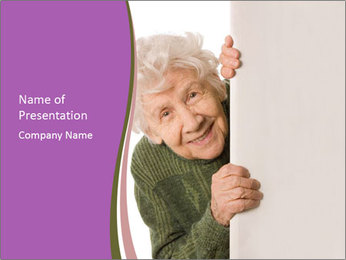 The old woman spies PowerPoint Template - Slide 1