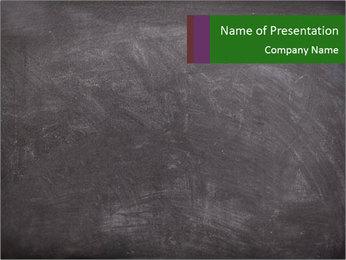 Empty blank black chalkboard PowerPoint Template - Slide 1