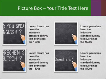 Empty blank black chalkboard PowerPoint Templates - Slide 14