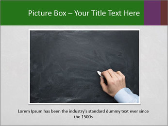 Empty blank black chalkboard PowerPoint Template - Slide 15