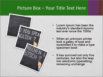 Empty blank black chalkboard PowerPoint Template - Slide 17