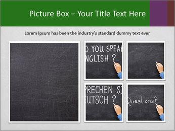 Empty blank black chalkboard PowerPoint Templates - Slide 19