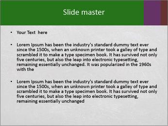Empty blank black chalkboard PowerPoint Template - Slide 2