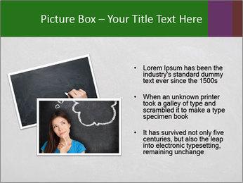 Empty blank black chalkboard PowerPoint Template - Slide 20