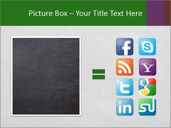 Empty blank black chalkboard PowerPoint Template - Slide 21