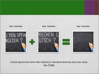 Empty blank black chalkboard PowerPoint Template - Slide 22